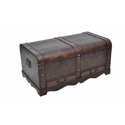 coffre en bois brun type pirate exotique achat vente coffre en bois brun type pi cdiscount. Black Bedroom Furniture Sets. Home Design Ideas