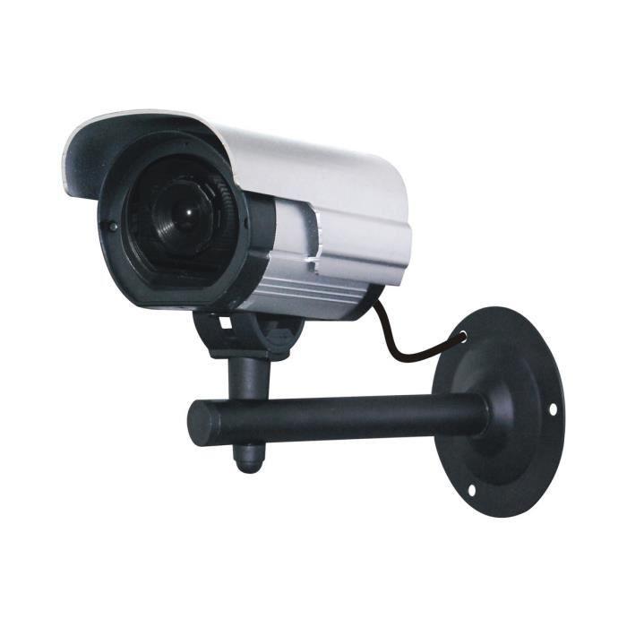 Chacon cam ra de surveillance factice avec led achat vente cam ra factice plastique cdiscount - Camera de surveillance factice ...