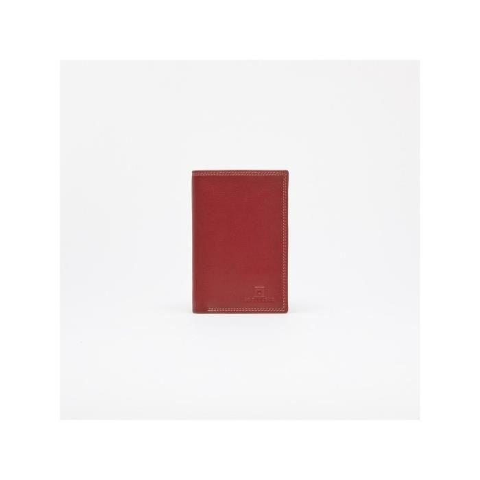 Porte cartes de cr dit le tanneur touraine rouge for Porte carte le tanneur