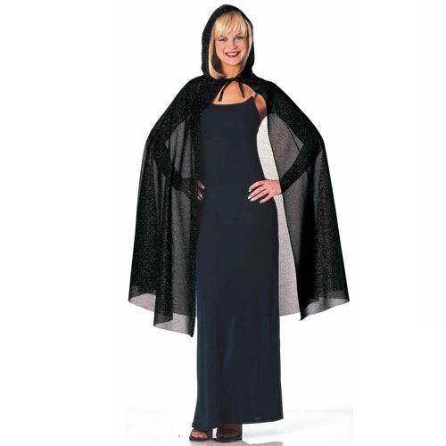 cape noire paillet e avec capuche femme achat vente accessoire d guisement cdiscount. Black Bedroom Furniture Sets. Home Design Ideas