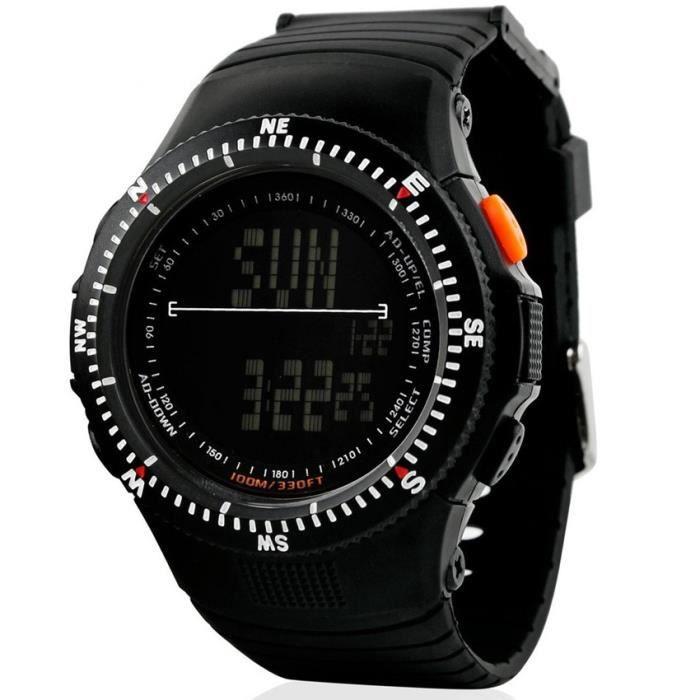 montre homme de marque sport num rique militaire noir achat vente montre montre homme de. Black Bedroom Furniture Sets. Home Design Ideas