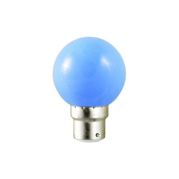 led b22 deco couleur bleu achat vente led b22 deco. Black Bedroom Furniture Sets. Home Design Ideas