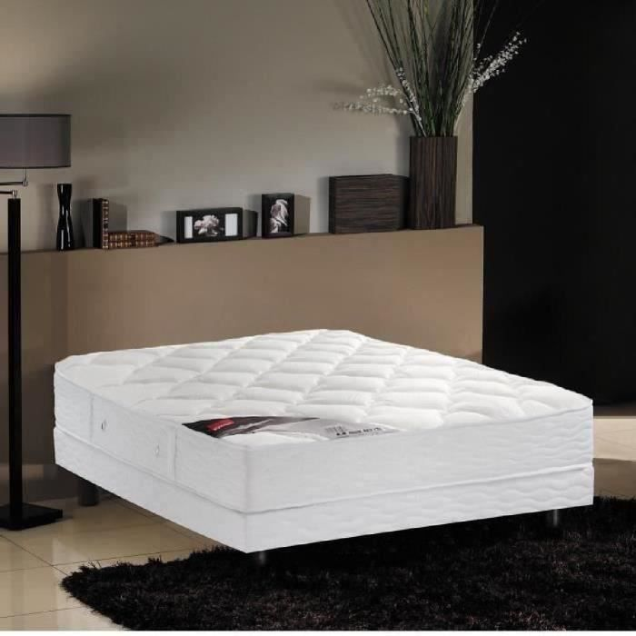 epeda ensemble matelas sommier 140x190cm 24cm ressorts ensach s tr s ferme achat vente. Black Bedroom Furniture Sets. Home Design Ideas
