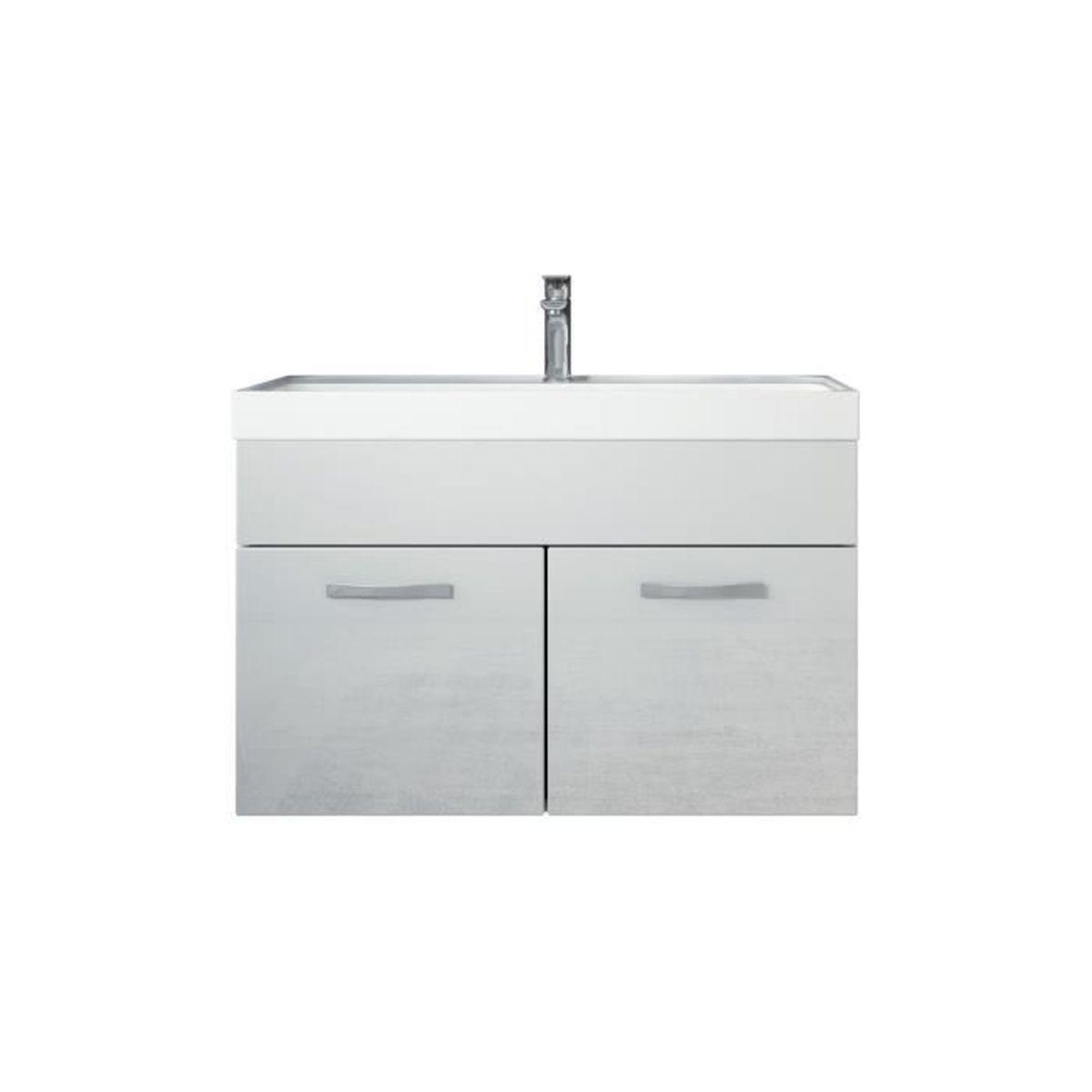 Meuble de salle de bain paso 01 meuble lavabo vier for Evier de salle de bain