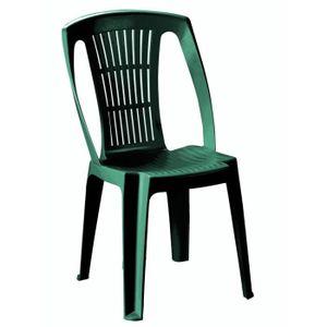 chaise de jardin en plastique vert : azontreasures.com