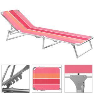 chaise longue transat rose achat vente chaise longue. Black Bedroom Furniture Sets. Home Design Ideas