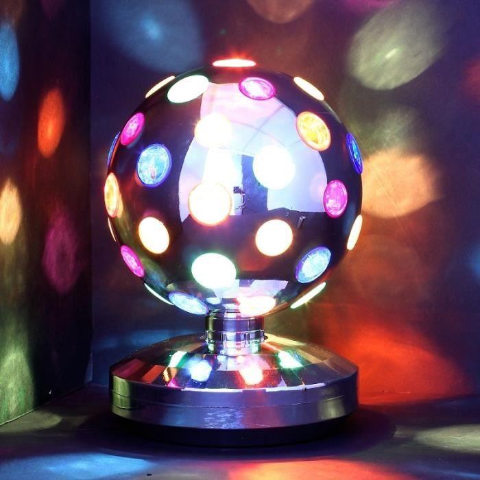 lampe disco 20 cm boule tournante pour soir e achat vente lampe disco 20 cm boule. Black Bedroom Furniture Sets. Home Design Ideas