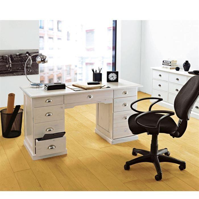 bureau ministre melbourne blanc. Black Bedroom Furniture Sets. Home Design Ideas