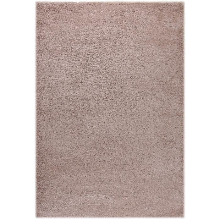 tapis moderne basic trendy beige 120x170 par achat vente tapis cdiscount. Black Bedroom Furniture Sets. Home Design Ideas