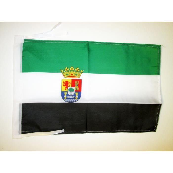 drapeau estr madure 45x30cm de extremadura espagne haute qualit achat vente drapeau. Black Bedroom Furniture Sets. Home Design Ideas