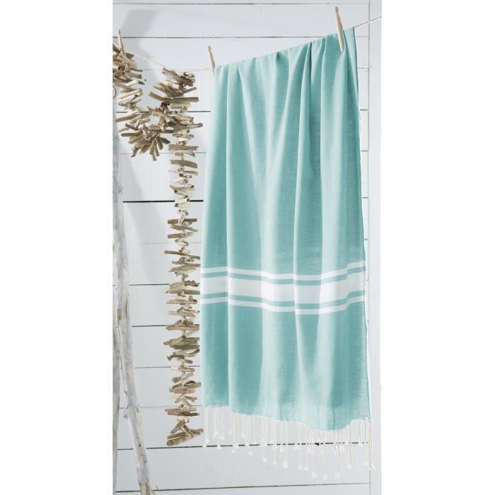 today fouta de plage 100 coton california dream 100x190 cm menthe achat vente serviette de. Black Bedroom Furniture Sets. Home Design Ideas