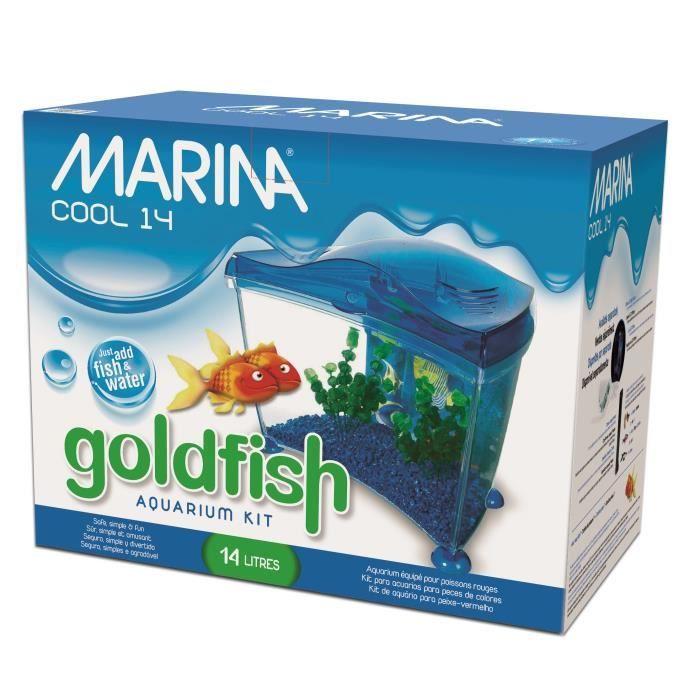 Marina aquarium goldfish bleu 14 l achat vente for Promotion poisson aquarium