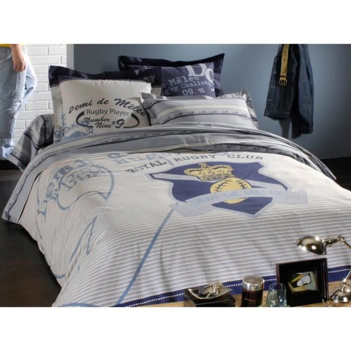 parure housse de couette demi de melee club achat vente parure de couette cdiscount. Black Bedroom Furniture Sets. Home Design Ideas
