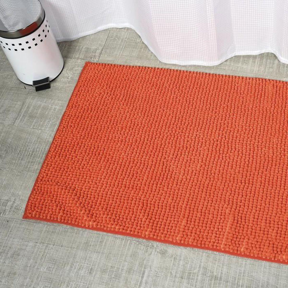 Tapis de bain grand modèle boules Orange - Achat / Vente tapis de ...