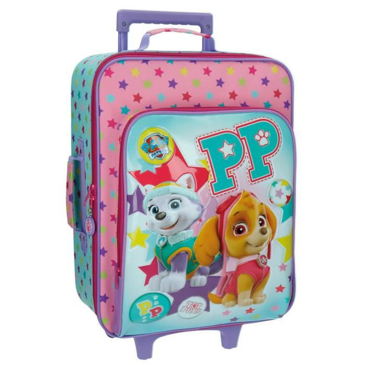 valise cabine souple 2 roues pour enfant paw patrol top pups bleu achat vente valise. Black Bedroom Furniture Sets. Home Design Ideas