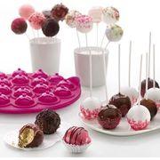 MOULE  Moule à 18 Cake pops rose LEKUE