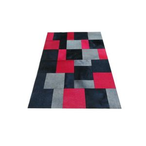 tapis patchwork cuir achat vente tapis patchwork cuir. Black Bedroom Furniture Sets. Home Design Ideas
