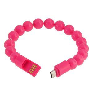 CÂBLE TÉLÉPHONE Bracelet Chargeur USB Rose pour SAMSUNG GALAXY NOT