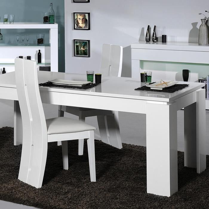Floyd table manger extensible 4 6 personnes 180 220x90 cm 4 chaises l - Table a manger 4 personnes ...