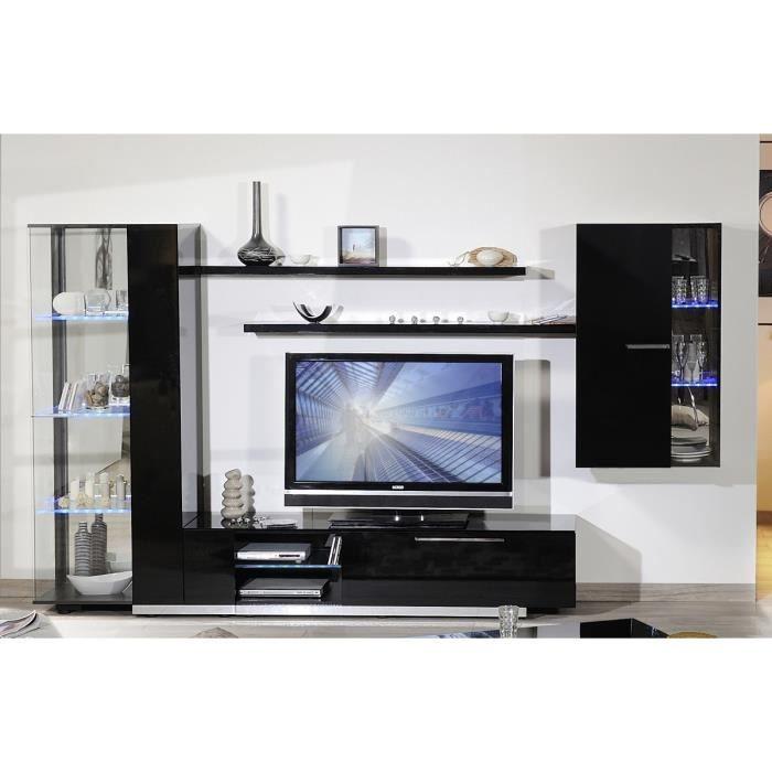 vertigo composition tv 300 cm laqu noir achat vente. Black Bedroom Furniture Sets. Home Design Ideas
