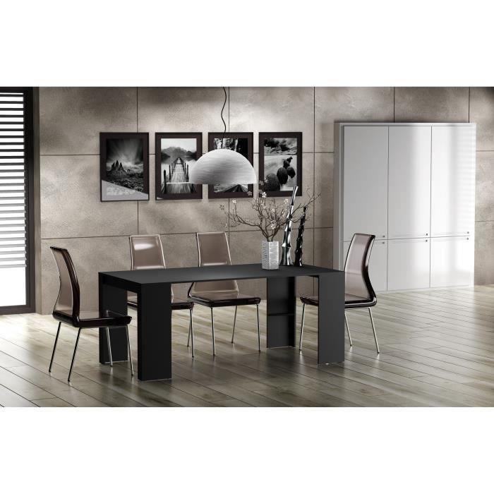 goomy console extensible 180 cm noir achat vente console goomy 180 console ext noir panneau. Black Bedroom Furniture Sets. Home Design Ideas