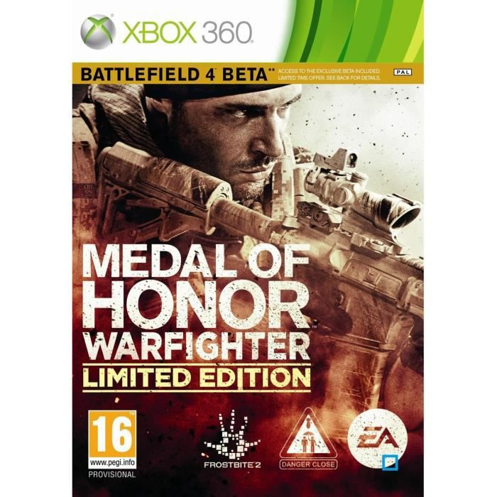 JEUX XBOX 360 MEDAL OF HONOR WARFIGHTER LIMITED EDITION