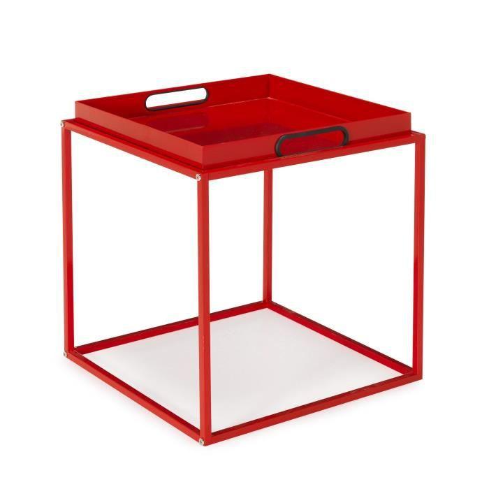 tela bout de canap avec plateau amovible rouge achat vente bout de canap tela bout de. Black Bedroom Furniture Sets. Home Design Ideas