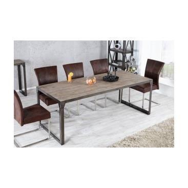 Table salle a manger metal et bois d coration de maison for Table salle a manger bois metal