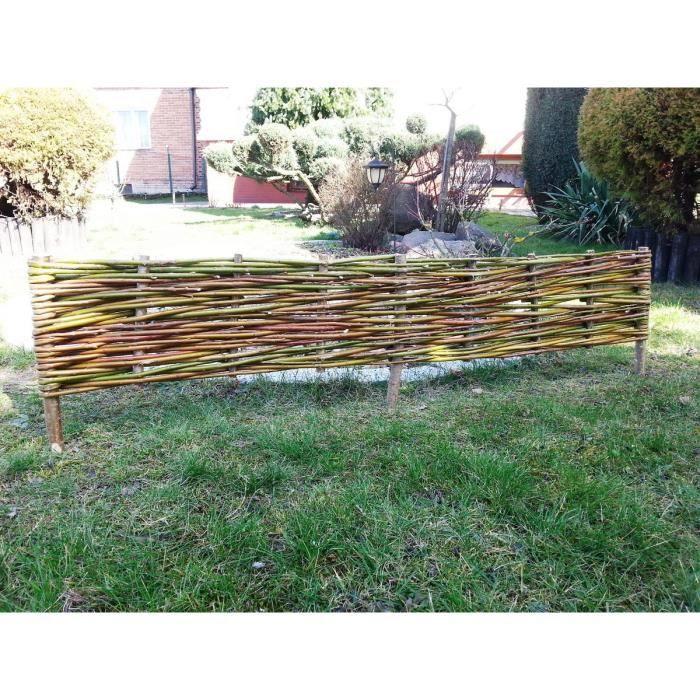 Bordure en osier naturel lot de 10 achat vente bordure bordure en osier naturel lo soldes - Bordure jardin occasion ...