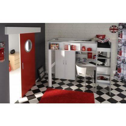 Lit mezzanine enfant 90 x 200 plutonium achat vente for Chambre fille lit mezzanine