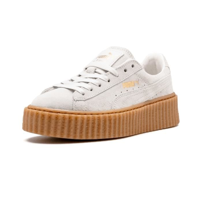 puma suede creepers blanche. Black Bedroom Furniture Sets. Home Design Ideas