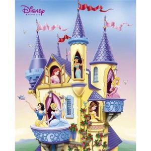affiche walt disney mini poster princesses chteau