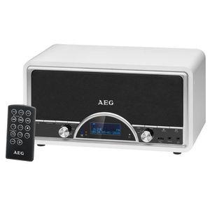 AEG NDR 4378WH DAB Radio Vintage Dab + Télécommande Inclus + USB + Aux-In - Blanc