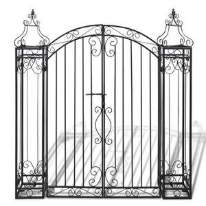 Portail en fer forge achat vente portail en fer forge pas cher les soldes sur cdiscount - Portail de jardin en fer ...
