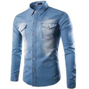 CHEMISE - CHEMISETTE Chemise en jeans Homme Bleu Clair