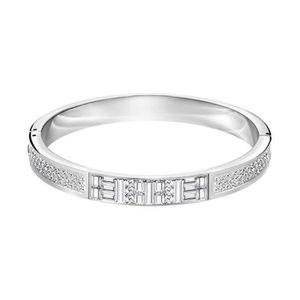 Bracelet Swarovski Geometric Jonc Plaqué Rhodium Achat Vente. Destiny  Jewellery Deal Du Jour Groupon