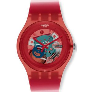 MONTRE Montre Mixte Swatch Red Lacquered SUOR101