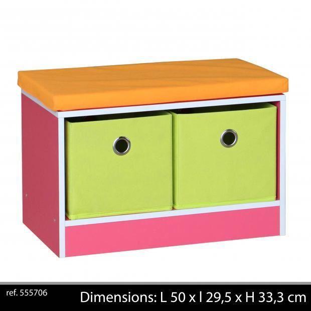 banc coussin enfants avec 2 paniers coffre jouets enfants x x achat vente. Black Bedroom Furniture Sets. Home Design Ideas