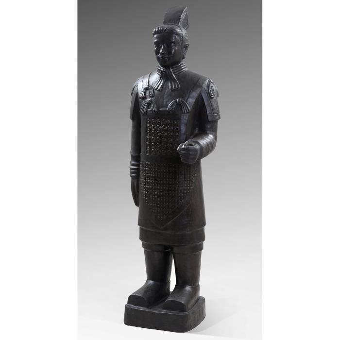 statue guerriers chinois terre cuite 200 cm achat vente buste mannequin polyr sine cdiscount. Black Bedroom Furniture Sets. Home Design Ideas