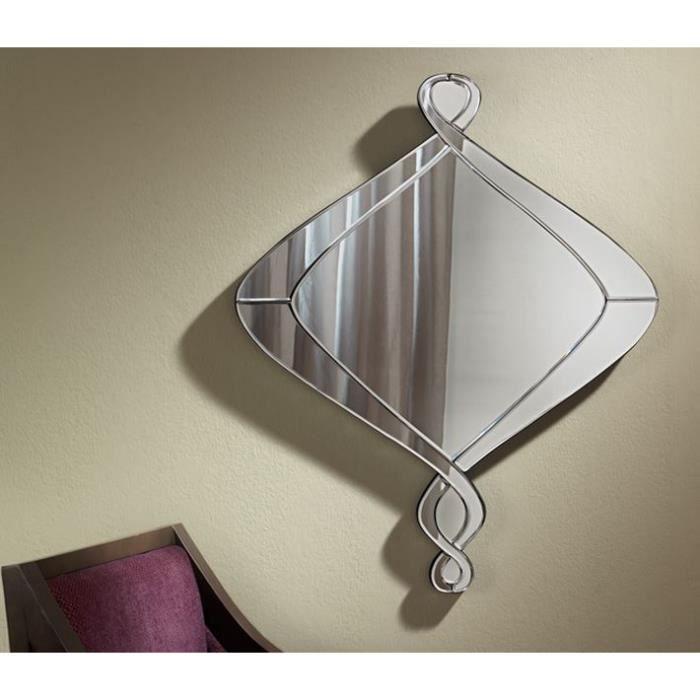 Miroir asym trique miroir biseaut 80x66 cm achat for Miroir miroir rohff