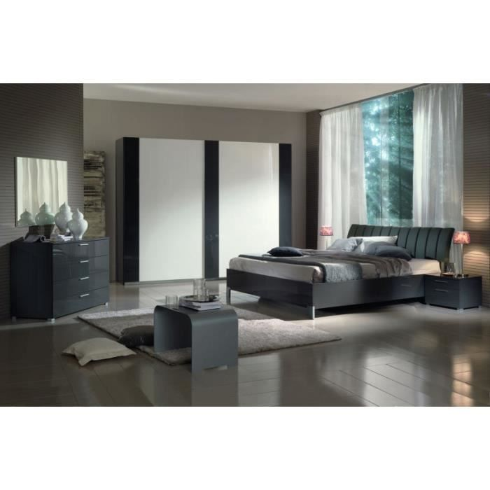 Chambre Coucher Moderne Grise 160x200 39 Sophie 39 Achat