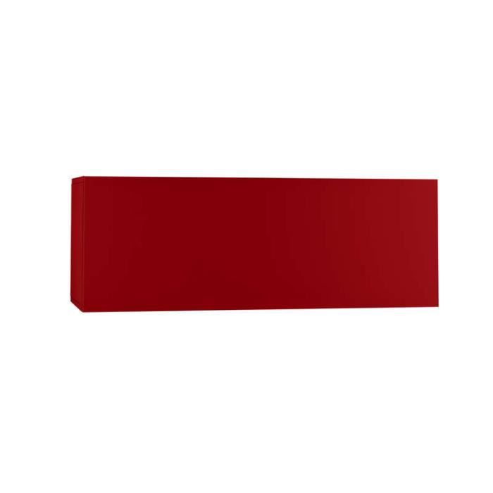 meuble tv mural horizontal up m rouge achat vente meuble tv meuble tv mural horizontal. Black Bedroom Furniture Sets. Home Design Ideas