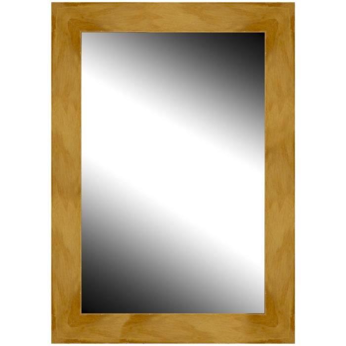 Brio miroir milano miel 50x70 cm achat vente miroir for Miroir 50 x 70 cm