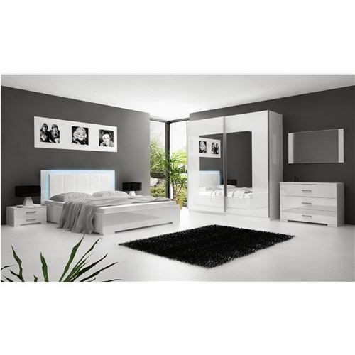 Chambre coucher compl te nali achat vente lit for Achat chambre a coucher complete