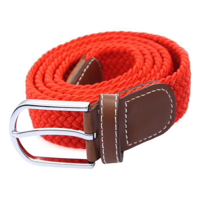 ceinture tissu femme,ceinture elastique tissu homme femme ados tresse 6fee1f50032
