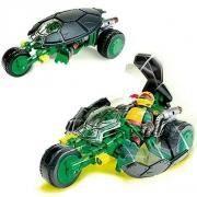 moto 3 roues de combat tortues ninja et 1 figurine
