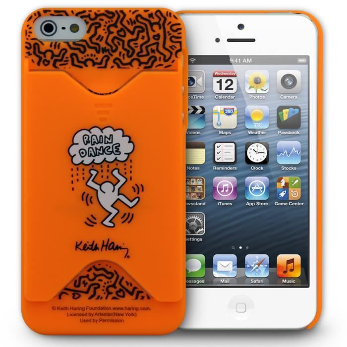 coque iphone 5 5s keith haring orange coque bumper avis et prix pas cher cadeaux de no l. Black Bedroom Furniture Sets. Home Design Ideas