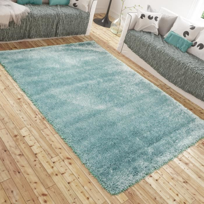 Tapis shaggy luxe lotus bleu clair universol achat vente tapis cdiscount - Tapis shaggy rose clair ...