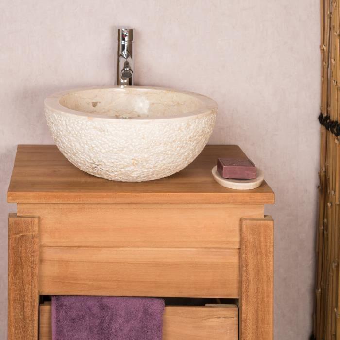 lave mains en pierre poser stromboli cr me 35cm achat vente lave main lave mains en pierre. Black Bedroom Furniture Sets. Home Design Ideas
