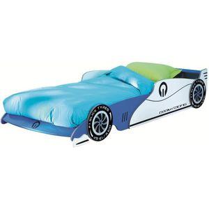 lit voiture bleu achat vente lit voiture bleu pas cher cdiscount. Black Bedroom Furniture Sets. Home Design Ideas